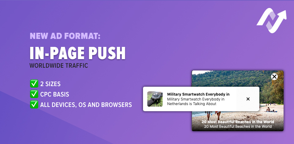 New Ad Format: In-Page Push