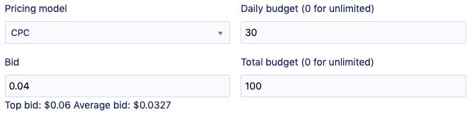 budget & bid