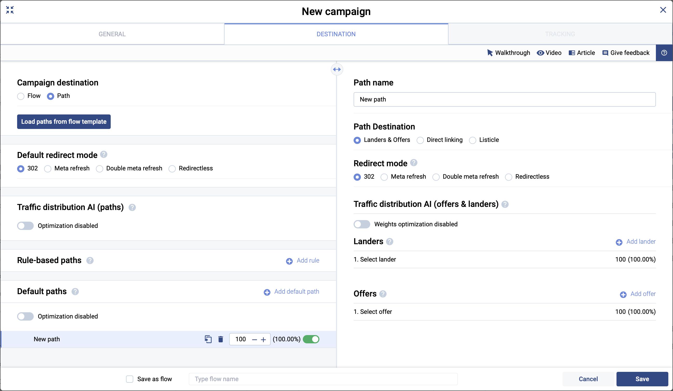 create campaign voluum