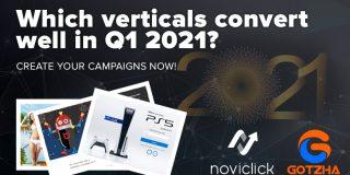 Which verticals convert well in Q1 2021?