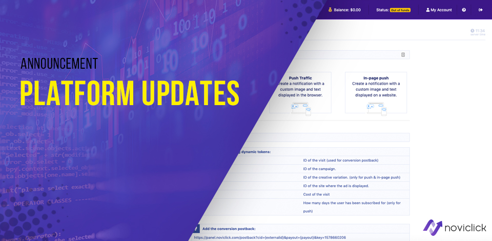 platform updates Noviclick